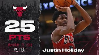 Justin Holiday Career High Threes vs. Heat 01.15.18!