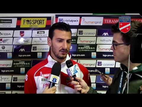 Coppa Italia, Teramo - Siena 2-0. Le interviste post-gara ai calciatori Mantini e Croce