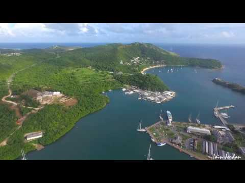 English Harbour Nelson's Dockyard Shirley Heights Antigua Aerial Filming