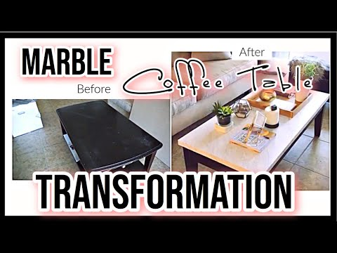 My DIY Marble Coffee Table Transformation | Furniture Makeover Series Ep. 1