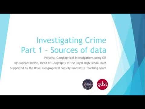 Investigating crime part 1 sources of data