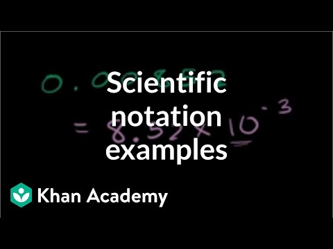 Scientific Notation Examples | Pre-Algebra | Khan Academy