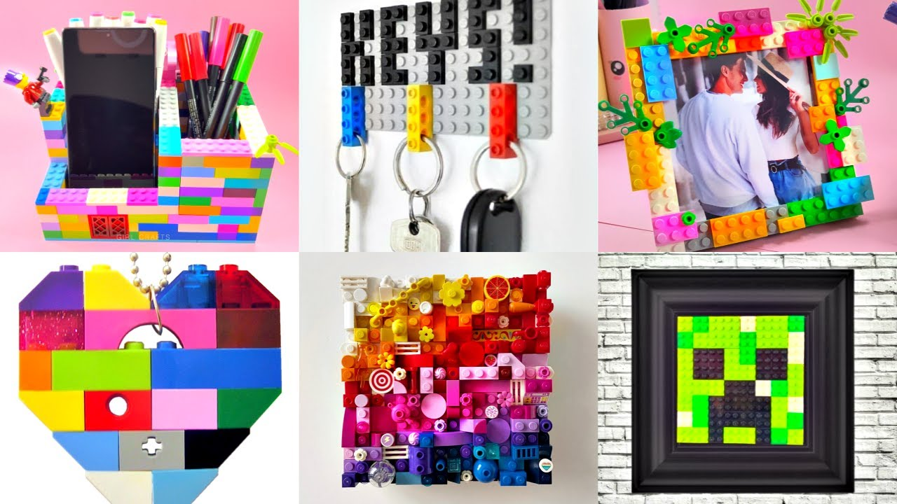 10 DIY - LEGO LIFE HACKS AND CRAFTS IDEAS - ORGANIZER - JEWELRY - FIDGET TOYS and more..