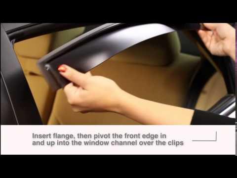 Dark Smoke WeatherTech Custom Fit Front /& Rear Side Window Deflectors for Nissan Versa