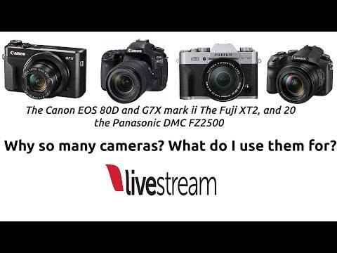PANASONIC FZ2500, CANON G7X MARK2, EOS80D, FUJI XT2 AND 20