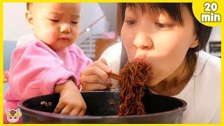 Pororo Noodle pretend play with kids toys 뽀로로 짜장면 함께 먹어요! 주방놀이 요리놀이 장난감 놀이 인기 모음