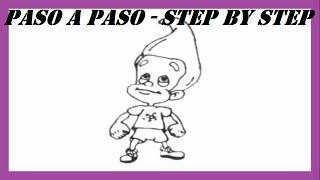 Como dibujar a Jimmy Neutrón paso a paso l How to draw Jimmy Neutron step by step