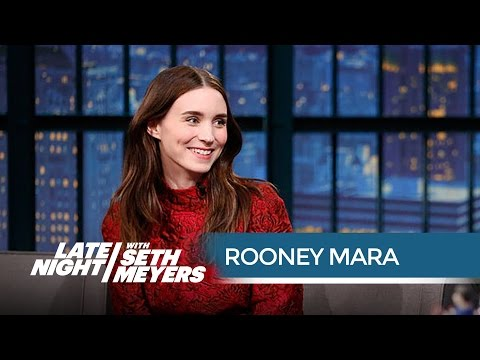 Football Royalty Rooney Mara Attended Games in Church Clothes  Late Night with Seth Meyers