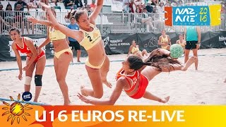Re-Live - Beach Handball EUROs 2016 - Day 2 - Court 2 - Morning Session