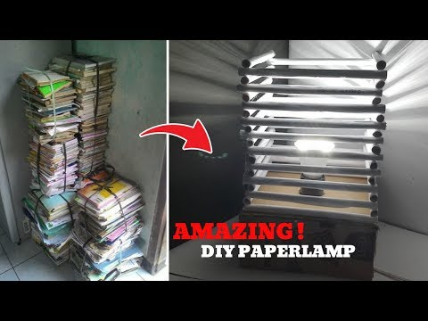 how make lamp paper - diy night lamp ideas / diy lampshade paper