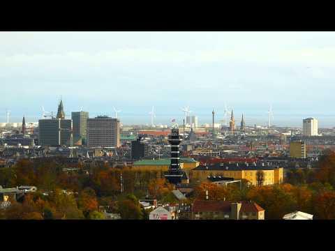 skyline copenhagen downtown - frederiksberg slot - zoo - københavns rådhus - ocean windmills