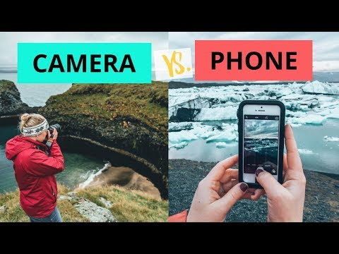 Phone vs Camera photography in Iceland
