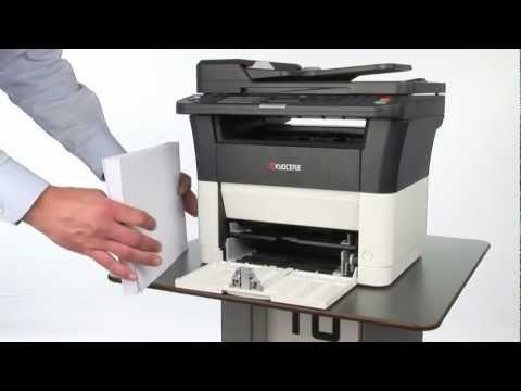 Installing the paper cassette on the FS-1220MFP, FS-1325MFP and FS-1320MFP