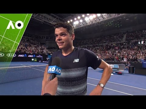 Milos Raonic on court interview (3R) | Australian Open 2017