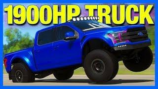 Forza Horizon 4 : 1900 Horsepower Ford F150!! (Ford F150 Prerunner Deberti)