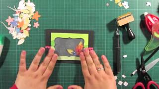 flowers in the window  card making tutorial