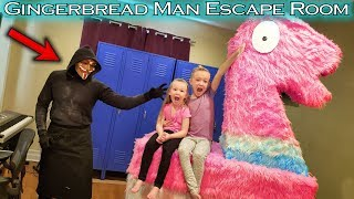 Gingerbread Man Escape Room!!! Llama Butt Day GM BTS!