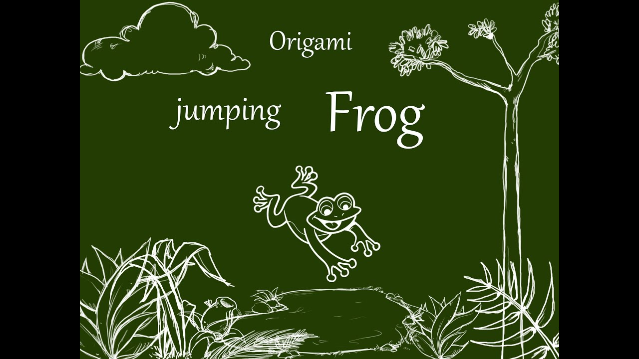 Origami ♣ jumping Frog ♣ - YouTube - photo#34