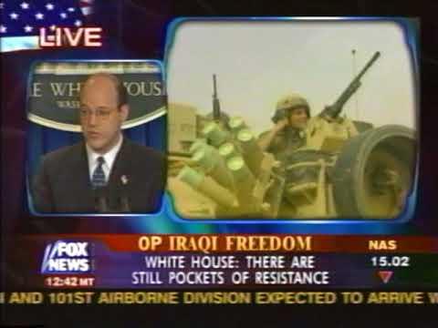 News - Iraq War - Part 1 - Tape 21 - White House News Conference - 9 Apr 2003 2:30pm ET