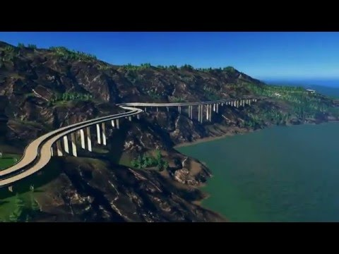Owl's beautifully detailed Cities Skylines Shaareki map with North Dark  theme - check out the water!