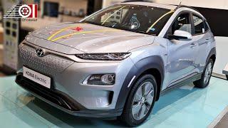 2020 Hyundai Kona Electric | Silver & Blue Color | Sunroof | Price | Range | Features | Interior