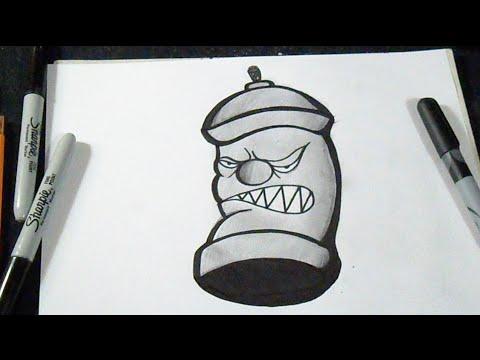 comment dessiner arosol graffiti  YouTube