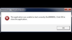 The application was unable to start correctly 0xc0000005