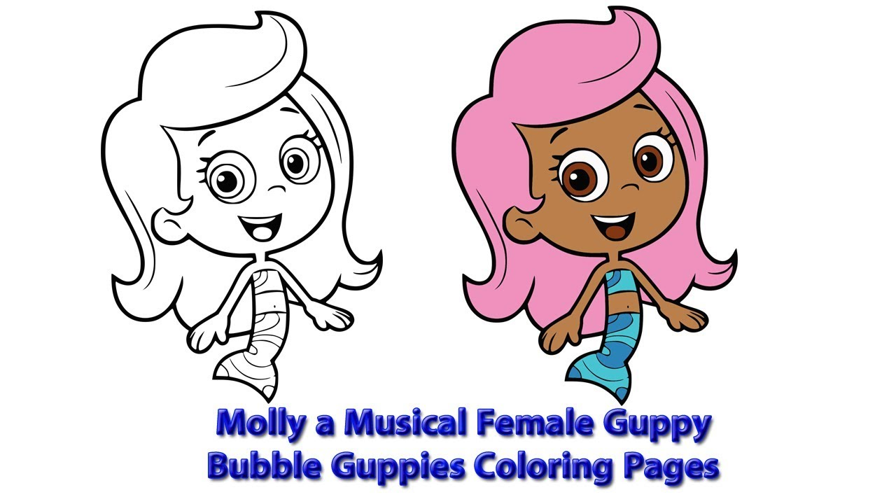 Molly a Musical Female Guppy | Bubble Guppies Coloring Pages