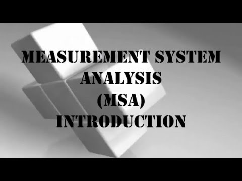 Gage R&R - MSA - Measurement System Analysis