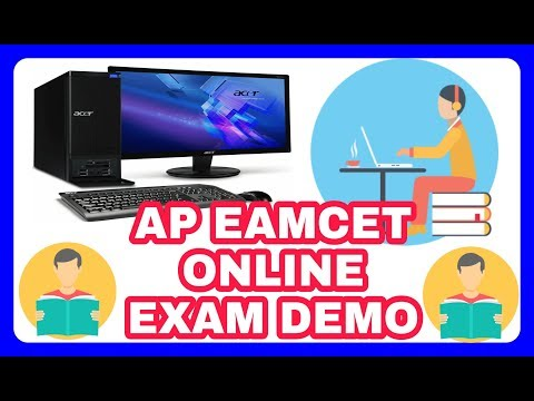 AP EAMCET ONLINE EXAM DEMO VIDEO ONLINE MOCK TEST how to write eamcet online exam