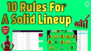 10 Rules for a Solid Lineup ⚽ 2018/2019
