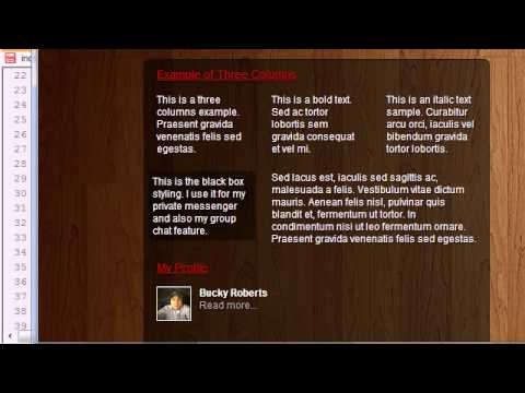 CSS3 Awesome Footer Tutorial - 23 - Working with Three Column Layouts
