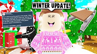 NEW SLEDS AND SLEIGH VEHICLE! WINTER UPDATE ON BLOXBURG! (Roblox)