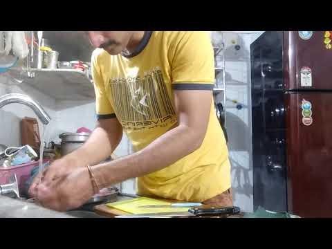 How to clean Bombay duck fish and prawns  Mahesh