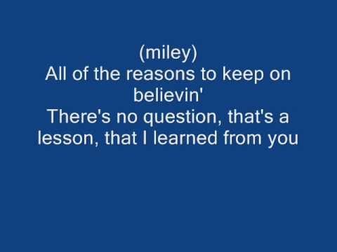 i learned from you lyrics