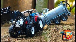 BRUDER Traktor Steyr and Tank truck trailer Crash! | Children video
