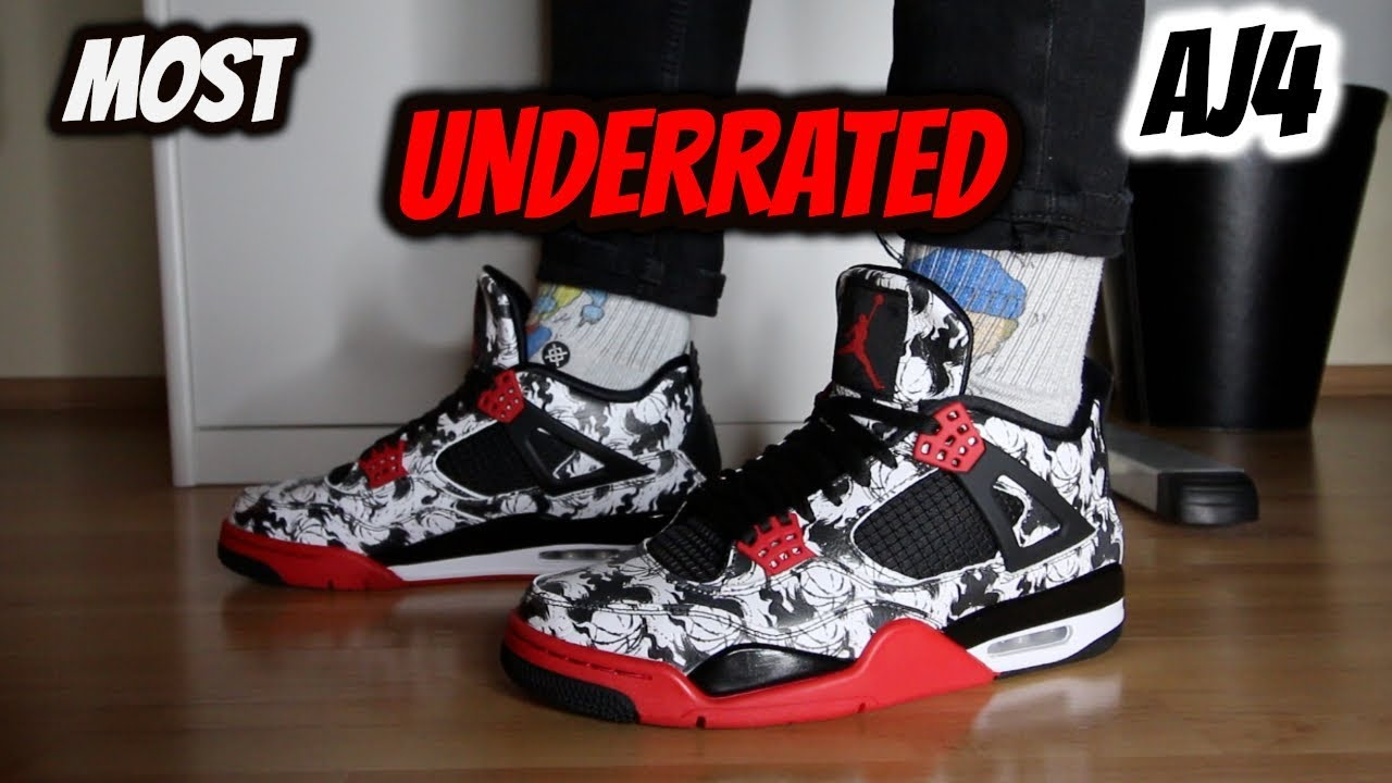 Nike Air Jordan 4 Tattoo Review On Feet Youtube