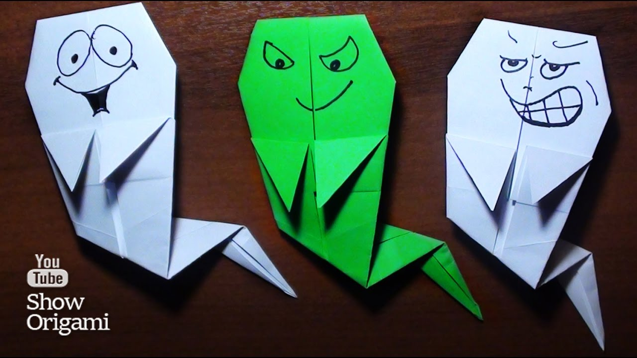 youtube origami ghost of paper with your hands jeuxipadfo Choice Image