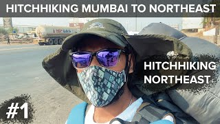 [Part 01] Hitchhiking Mumbai To North East Begins!   Hitchhiking To North East