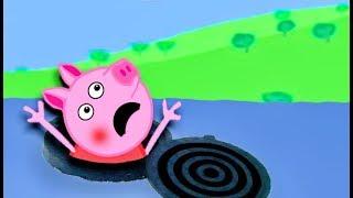 Мультики Свинка  Петта упала в люк Мультфильмы для детей на русском