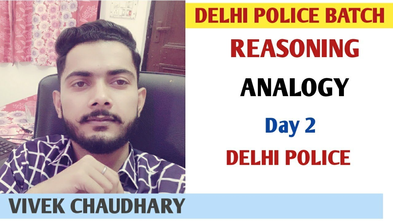 Analogy Part 2 Delhi Police Special   Analogy Reasoning trick by vivek sir