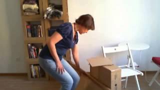 Мебель из картона своми руками | Шкаф-стеллаж из картона своими руками.