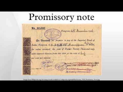 Promissory note - YouTube