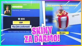 SKINS FOR FREE! In-GAME GIFT SYSTEM (GIVEAWAY)-Fortnite Battle Royale