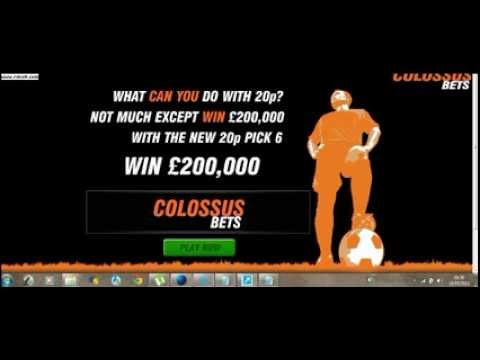 Colossus Bets Guaranteed with £2