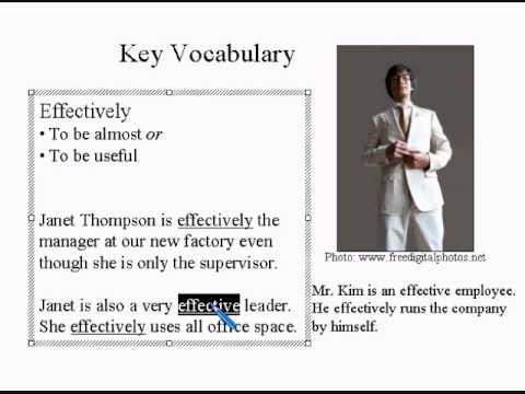 Learn Advanced English Lesson #1 1/2