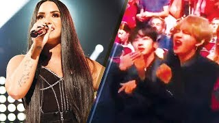 Demi Lovato's 'Sorry Not Sorry' Performance Had BTS Going CRAZY! | 2017 AMAs MP3