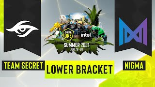 Dota2 - Team Secret vs. Team Nigma - Game 1 - ESL One Summer 2021 - Lower Bracket