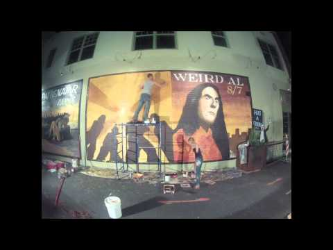 Weird Al and Coheed and Cambria mural Timelapse - Joe Pagac