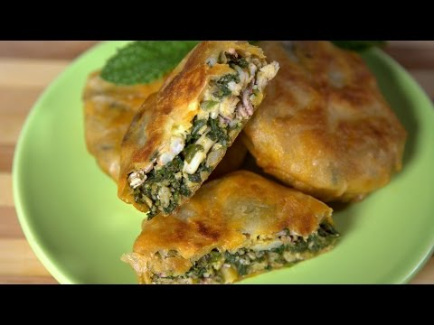 [ENG] Seafood and Spinach Pastilla / بسطيلة السمك والسبانخ -CookingWithAlia - Episode 449